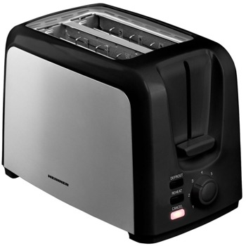 Тостер Heinner HTP-700BKSS, 6 степени, функция размразяване/повторно нагряване/анулиране, функция самоцентриране, 750W, черен image