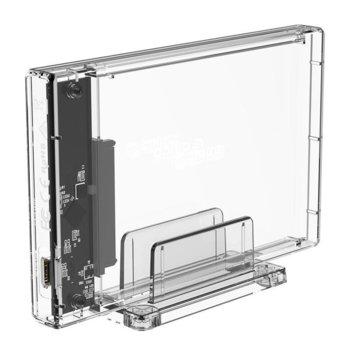 """Кутия 2.5"""" (6.35 cm) Orico 2159C3-G2-CR, за HDD/SSD, USB 3.1 Type-C, прозрачна image"""