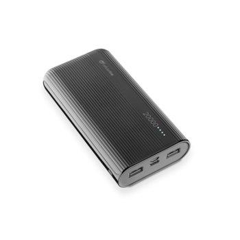 Външна батерия/power bank CellularLine PowerTank, 20000mAh, черна, USB image