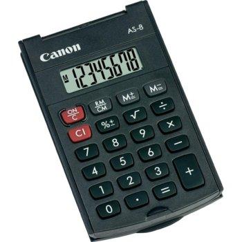 Калкулатор Canon AS-8, тъмносив image