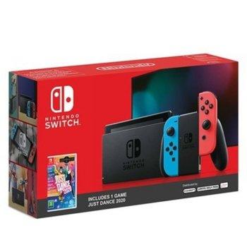 Конзола Nintendo Switch - Red & Blue + Just Dance 2020, 32GB, червен/син image