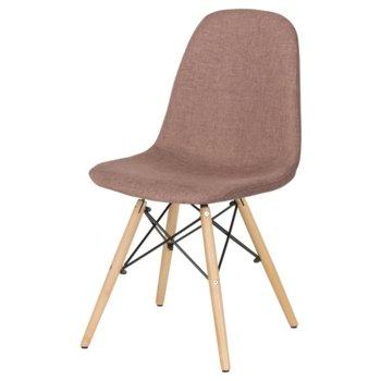 Трапезен стол Carmen 9963, кафяв image
