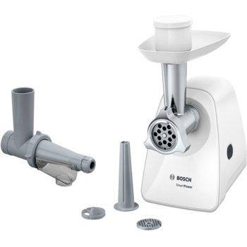 Месомелачка Bosch MFW2515W, капацитет 1,7 кг/мин, защита от претоварване, приставка за наденица, приставка за пресоване на плодове, 350W, зелена  image