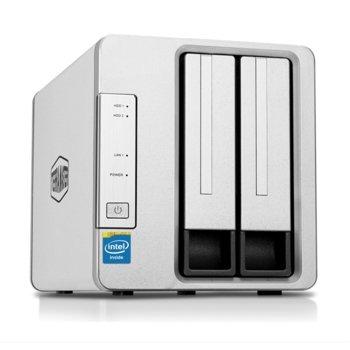 Мрежови диск (NAS) TerraMaster F2-220, двуядрен Bay Trail Intel Celeron J1800 2.41/2.58GHz, без твърд диск (2x SATA), 2GB RAM, 1x LAN1000, 1x USB 3.0 image