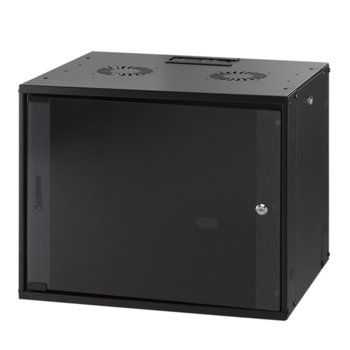 Комуникационен шкаф Mirsan MR.WTC09U45DE.01, 9U, 540 x 440 x 450 мм, черен image