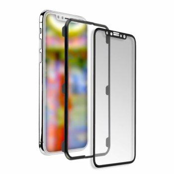 Протектор от закалено стъкло /Tempered Glass/ 4smarts Second Glass Curved Easy-Assist за Apple iPhone XS/X, 0.3mm, рамка за поставяне, черен image
