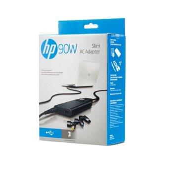 Захранване (оригинално) за лаптопи HP Slim AC Adapter, 90W, за HP лаптопи image