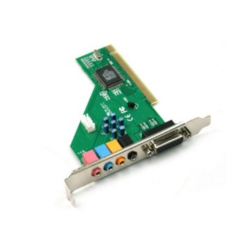 Звукова карта 17204, 4+1, PCI звукова карта image