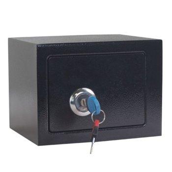 Сейф Carmen CR-1550-2 XZ, 16 x 22.5 x 17 cm, черен image
