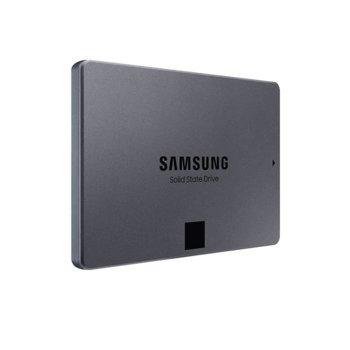 """Памет SSD 1TB Samsung 860 QVO, SATA 6Gb/s, 2.5"""" (6.35cm), скорост на четене 550MB/s, скорост на запис 520MB/s, MZ-76Q1T0BW image"""