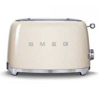 Тостер Smeg TSF01CREU, функция отказ, автоматично центриране на филийките хляб, автоматично изваждане на филийките след печене, aвтоматично изключване, 7 степени на изпичане, 950 W image