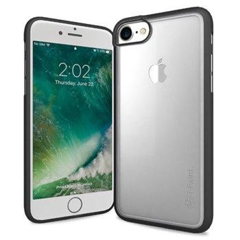 Калъф за Apple iPhone 8, хибриден, iPaint Matte Frame 121002, черен-прозрачен image
