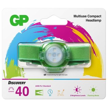 Челник GP Batteries CH31, 2x CR2025, 45lm, зелен image