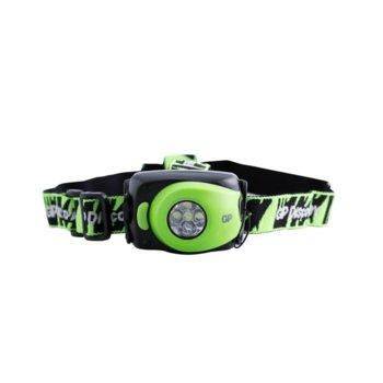Фенер GP LOE211AU, 4 x LED, Зелен/Черен product