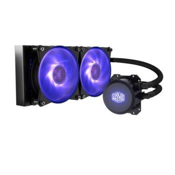 Водно охлаждане за процесор Cooler Master MasterLiquid ML240L RGB, съвместимост с Intel LGA 2066/2011-3/2011/1366/1156/1155/1151/1150/775 & AMD AM4/AM3(+)/AM2(+)/FM2(+)/FM1, 2000 rpm image