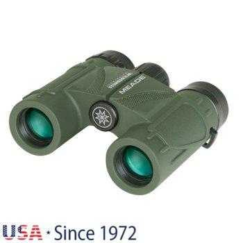 Бинокъл Meade Wilderness 10x25, 10x оптично увеличение, 25mm апертура, водоустойчив, зелен image