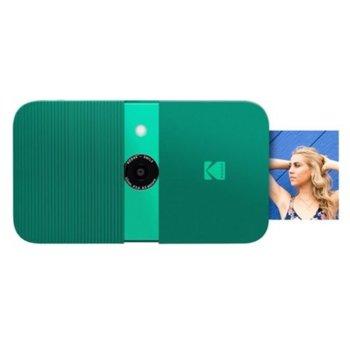 Фотоапарат Kodak Smile RODSMCAMGN(зелен), 10 Mpix, снимки с размер 2x3ʺ на хартия ZINK, LCD дисплей, MicroSD до 256GB image