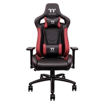 Геймърски стол TteSports U Fit, изкуствена кожа, червено-черен image