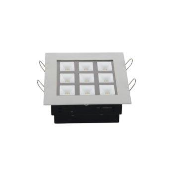 LED луна за вграждане, ORAX LDLB9WWW, 9W, AC 220V, Топло бяла image