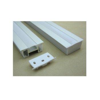 LED алуминиев профил M001T-SF, за 3 ленти, 41x18mm, 2m дължина, за ленти до 12mm image
