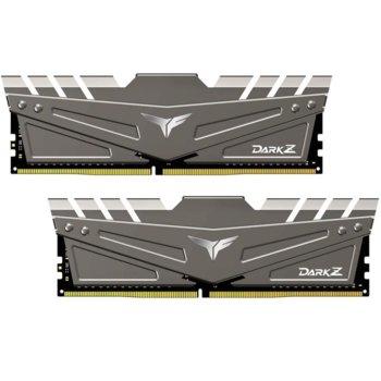 Памет 32GB(2x16GB) DDR4, 2666MHz, TeamGroup T-FORCE DARK Z Grey (TDZGD432G2666HC15BDC01), 1.2V image