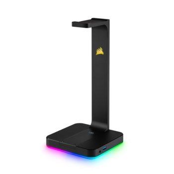 Док за слушалки Corsair ST100 RGB, USB, 3.5 mm jack, RGB осветление, черен image