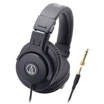 Слушалки Audio-Technica ATH-M30X, за професионален мониторинг, 40мм говорители, 15-22kHz, 96 dB, сгъваеми, черни image