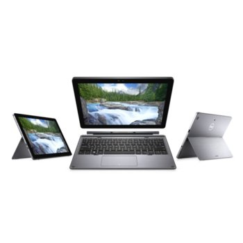 "Хибриден лаптоп Dell Latitude 7200 (N013L7200122IN1EMEA)(сребрист), четириядрен Whiskey Lake Intel Core i5-8265U 1.6/3.9 GHz, 12.3"" (31.24 cm) Full HD Anti-Glare Touchscreen Display, (HDMI), 8GB, 256GB SSD, 2x Thunderbolt 3, Windows 10 Pro image"