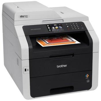 Мултифункционално LED устройство Brother MFC-9340CDW, цветен принтер/скенер/копир/факс, 2400 x 600dpi, 22 стр/мин, LAN100Base-TX, Wi-Fi, USB, ADF, двустранен печат, A4 image