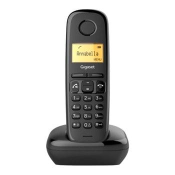 """Безжичен телефон Gigaset A270, 1.5""""(3.81cm) LCD дисплей, 1 линия, адресна памет за 80 номера, черен image"""