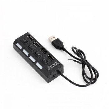 USB Хъб 12053, 4x USB 2.0, бутони on/off image