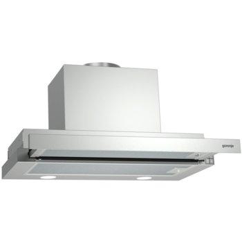 Абсорбатор Gorenje BHP 623 E 13X, за вграждане, телескопичен, енергиен клас C, 246 W, циркулация 639 m³/h, 1 мотор, LED осветление, Полиуретанови филтри, ниско ниво на шума, сребрист image