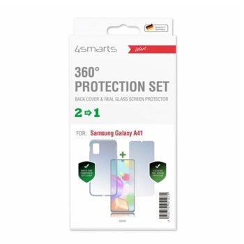 Калъф за Samsung Galaxy A41, термополиуретанов, 4Smarts 360° Protection Set 4S493460, с протектор, прозрачен image