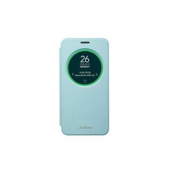 Калъф за Asus ZenFone 2 Laser, отваряем с прозорец, поликарбонатов, Asus View Flip ZE500KL, син image