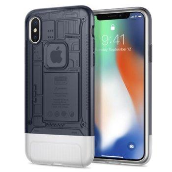 Калъф за Apple iPhone XS/X, хибриден, Spigen Classic C1 Case, сив image