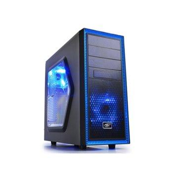 Кутия DeepCool Tesseract SW с подарък мишка Trust Ziva, ATX/MICRO ATX/MINI-ITX, USB 3.0, 2x LED вентилатора, черна, без захранване image