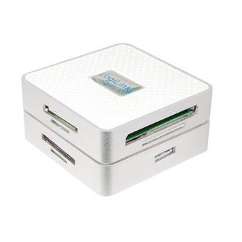 Четец на карти LogiLink CR0033, USB 3.0, I/II/Ultra CF/MD, XD, MMC/RS MMS, MS/MS Pro/MS Duo/MS Pro Duo, Secure Digital (micro) SD, (Micro) SDHC, (Micro) SDXC, бял image