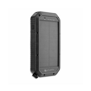 Външна батерия /power bank/ 4smarts Solar Wireless Qi Power Bank TitanPack 20000mAh, черна, соларна image