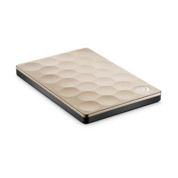 """Твърд диск 1TB Seagate Backup Plus Ultra Slim, външен, 2.5"""" (6.35 cm), USB 3.0, златист image"""