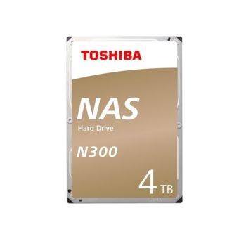 """Твърд диск 4TB Toshiba N300 NAS, SATA 6Gb/s, 7200 rpm, 128MB, 3.5"""" (8.89cm), Bulk image"""