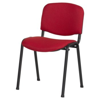 Посетителски стол Carmen 1130 LUX, дамаска, прахово боядисан, червено-черен image