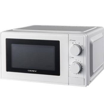 Микровълнова фурна Crown CDMO-2069, механично управление, 700W, 20L обем, 6 степени на мощност, бял image