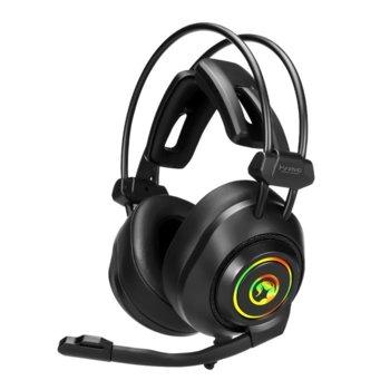 Слушалки Marvo HG9056, микрофон, AUX, RGB подсветка, Virtual 7.1 Surround, черни image