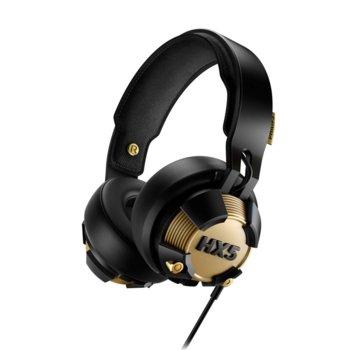 Слушалки Philips HX5, микрофон, динамични LED светлини, 40 мм неодимови мембрани, черен/златист image