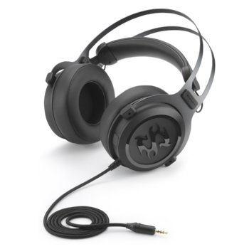 Слушалки Sharkoon Skiller SGH3, микрофон, позлатени конектори, Геймърски, черни image