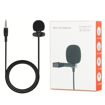 """Микрофон L3 235344, тип """"брошка"""", AUX, черен image"""