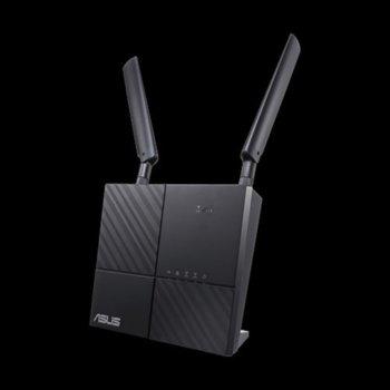 Рутер Asus AiMesh AC1900, 3G/4G, 750Mbps, 2.4GHz(300 Mbps) / 5GHz(433 Mbps), Wireless AC, 2x LAN1000, 1x USB 2.0, 2x външни антени, 1x SIM Card слот image