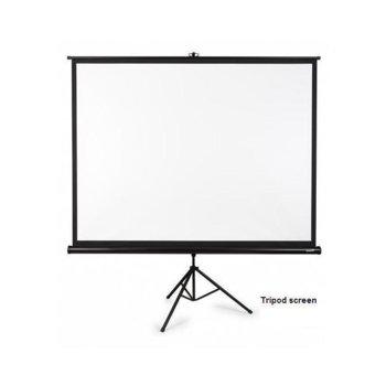 """Екран OMB SP070MTS, на стойка, бял мат, 178 x 178, 70"""" (177.8 cm), 1:1 image"""