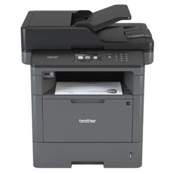 Мултифункционално лазерно устройство Brother MFCL5750DW, монохромен принтер/скенер/копир/факс, 1200x1200dpi, 10 стр/мин, WiFi/Direct, USB, ADF, двустранен печат, A4 image