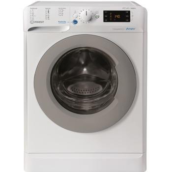 Пералня със сушилня Indesit BDE861483XWSEU, клас А, капацитет пералня 9кг./7кг. сушилня, 1400 об./мин, свободностояща, 60 cm, отложен старт, защитна система за деца, бяла image